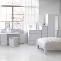 Alpine White High Gloss Bedroom Furniture.£89-£1099.