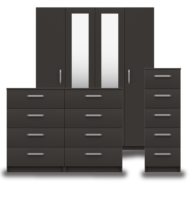 Arden Graphite High Gloss Bedroom Furniture. From £129.