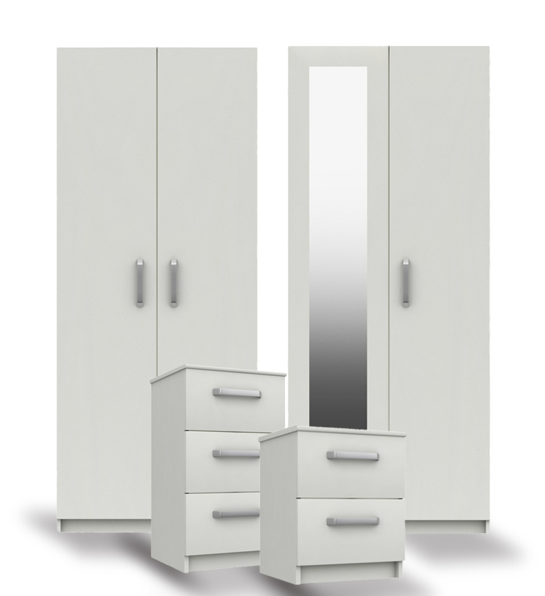 Arden White High Gloss Bedroom Furniture. From £129.