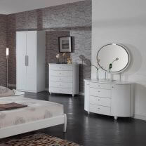 Aztec White High Gloss Bedroom Furniture.£135-£499.