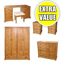Baltic Value Pine Bedroom Furniture.£55-£279.