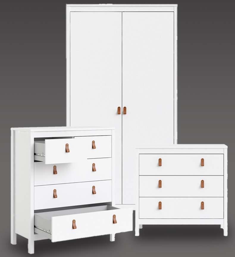 Barton Matt White Bedroom Furniture. From £109.