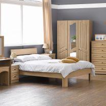 Bordeaux Textured Oak Bedroom Furniture.£89-£1099.