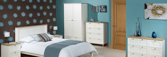 Boston Ash Two Tone Bedroom Furniture.£69-£399.
