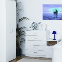 Budget White Bedroom Furniture.£35-£89.