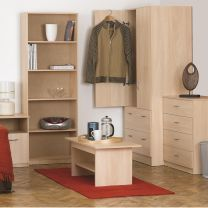 Budget Woodgrain Bedroom Furniture.£35-£215.