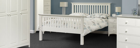 Cammy White Shaker Bedroom Furniture.£89-£549.