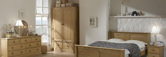 Castle Waxed Pine Bedroom Furniture.£49-£329.