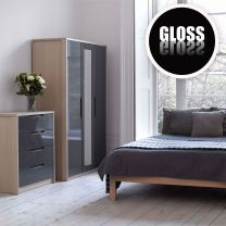 Champagne Avola With Grey Gloss Bedroom Furniture Bedroom Furniture