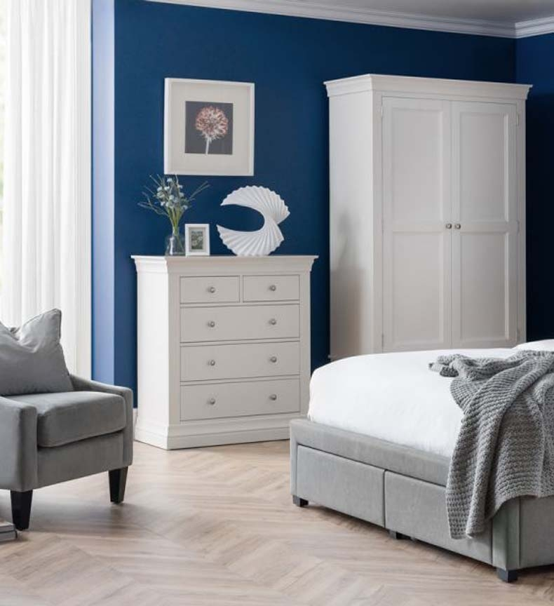 Clarence White Bedroom Furniture. From £169.