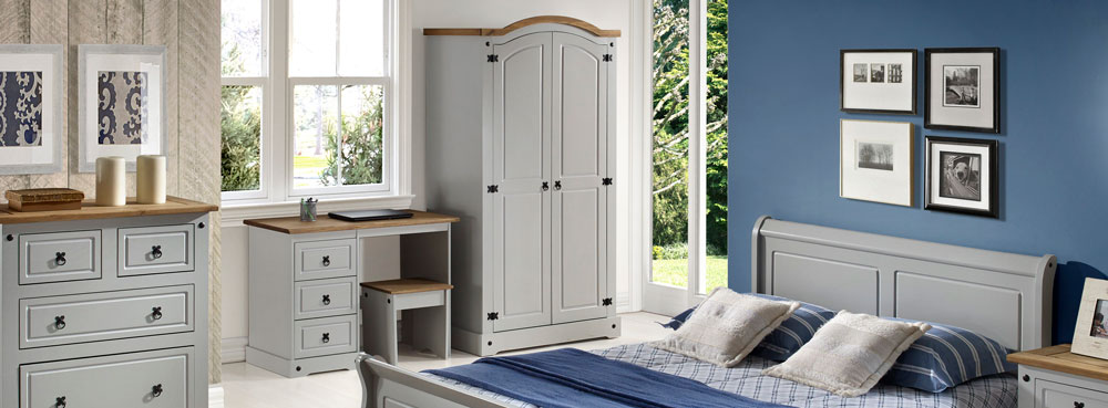 Corona Grey Bedroom Furniture.£35-£269.
