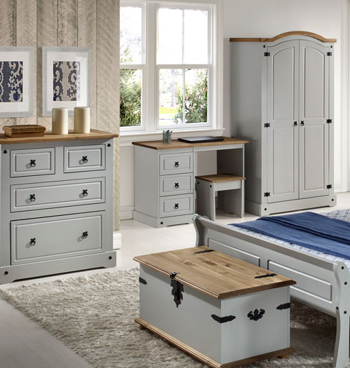 Corona Grey Bedroom Furniture.£35-£269. - Bedroom Furniture