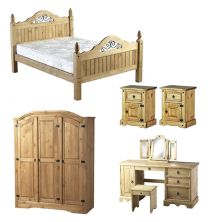 Corona Mexican Pine Bedroom Furniture.£59-£249.