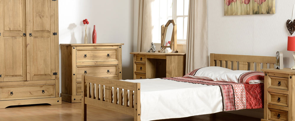 Corona Mexican Pine Bedroom Furniture.£29-£439.
