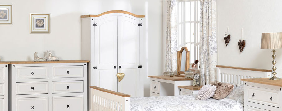 Corona White Bedroom Furniture.