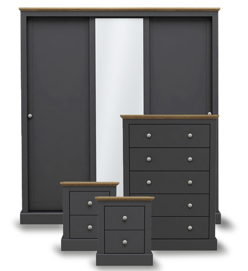 Dawlish Charcoal Bedroom Furniture.