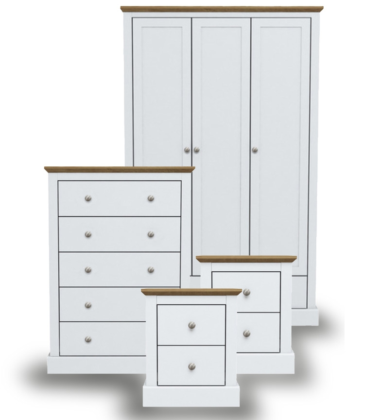 Dawlish White Bedroom Furniture.