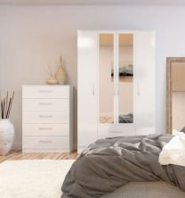 Links White High Gloss Bedroom Furniture. From £109.