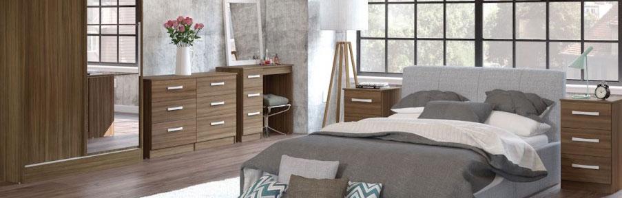 Links Walnut Bedroom Furniture.£89-£399