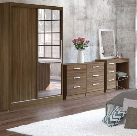 Links Walnut Bedroom Furniture.£89-£399