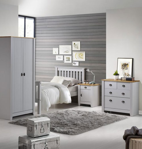 London Grey Bedroom Furniture. - Bedroom Furniture
