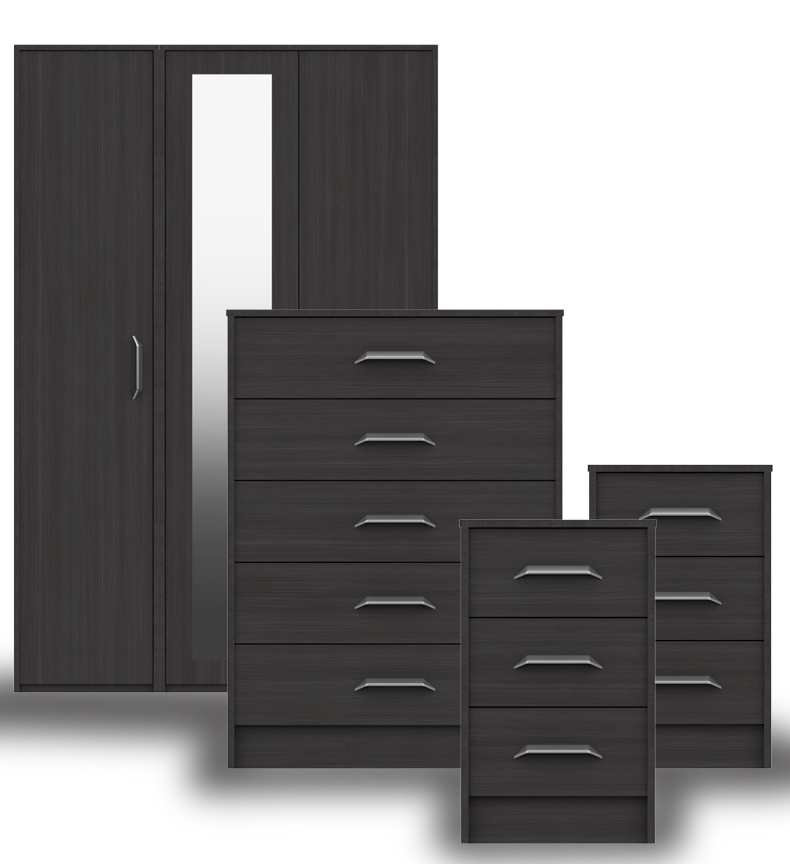 Marston Anthracite Oak Bedroom Furniture. From £99.