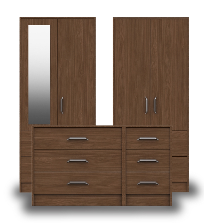 Marston Walnut Bedroom Furniture. From £99.