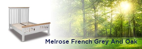 Melrose French Grey And Oak Bedroom Furniture.£55-£699.