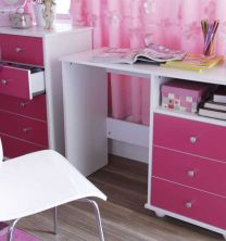 Miami Pink Bedroom Furniture.£45-£119. - Bedroom Furniture
