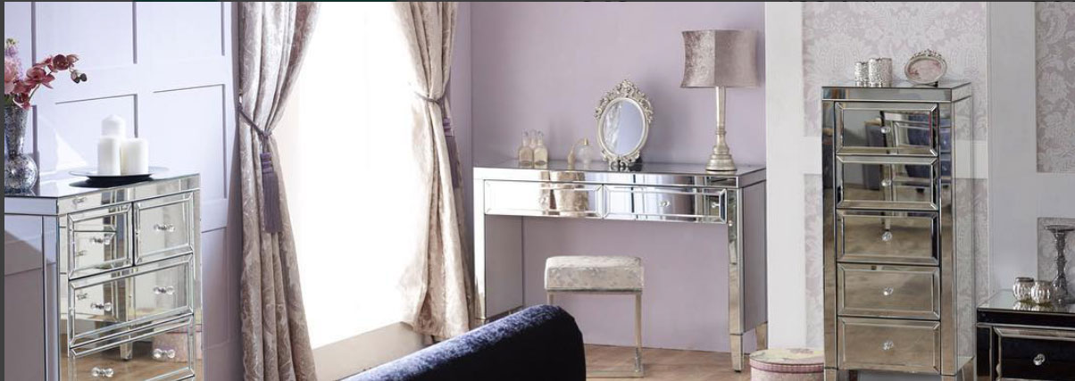 Mirrored Bedroom Furniture From £159.