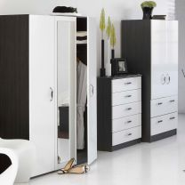 Piano Mode High Gloss Bedroom Furniture. £65-£299.