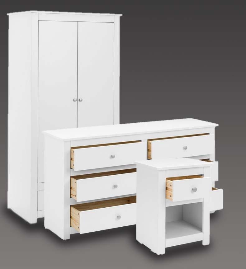 Fradley White Bedroom Furniture. From £79.