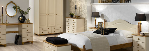 Richmond Cream Bedroom Furniture. £45-£379.
