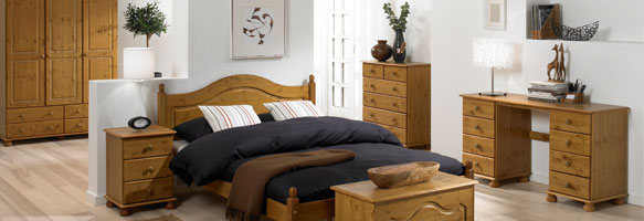 Richmond Pine Bedroom Furniture.£45-£349.