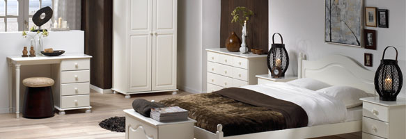 Richmond White Bedroom Furniture. £45-£379.