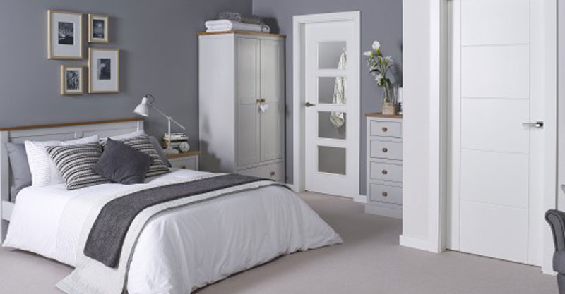 St.Austell Dove Grey Bedroom Furniture. £65-£399.