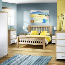 Sweden High Gloss Bedroom Furniture.£59-£359