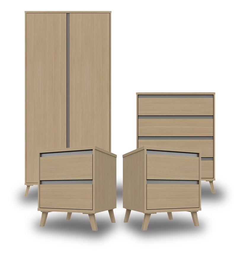 Thames Natural Oak Bedroom Furniture. From £119.