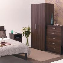 Walnut Mode Bedroom Furniture.£79-£285.