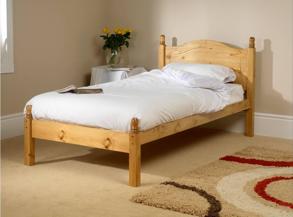 Orlando low foot end small single bed frame for Compact beds