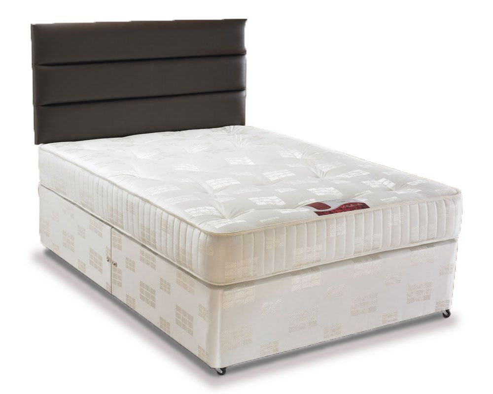 Angelina three quarter 3 4 4 drawer divan bed three for Divan bed sets with headboard