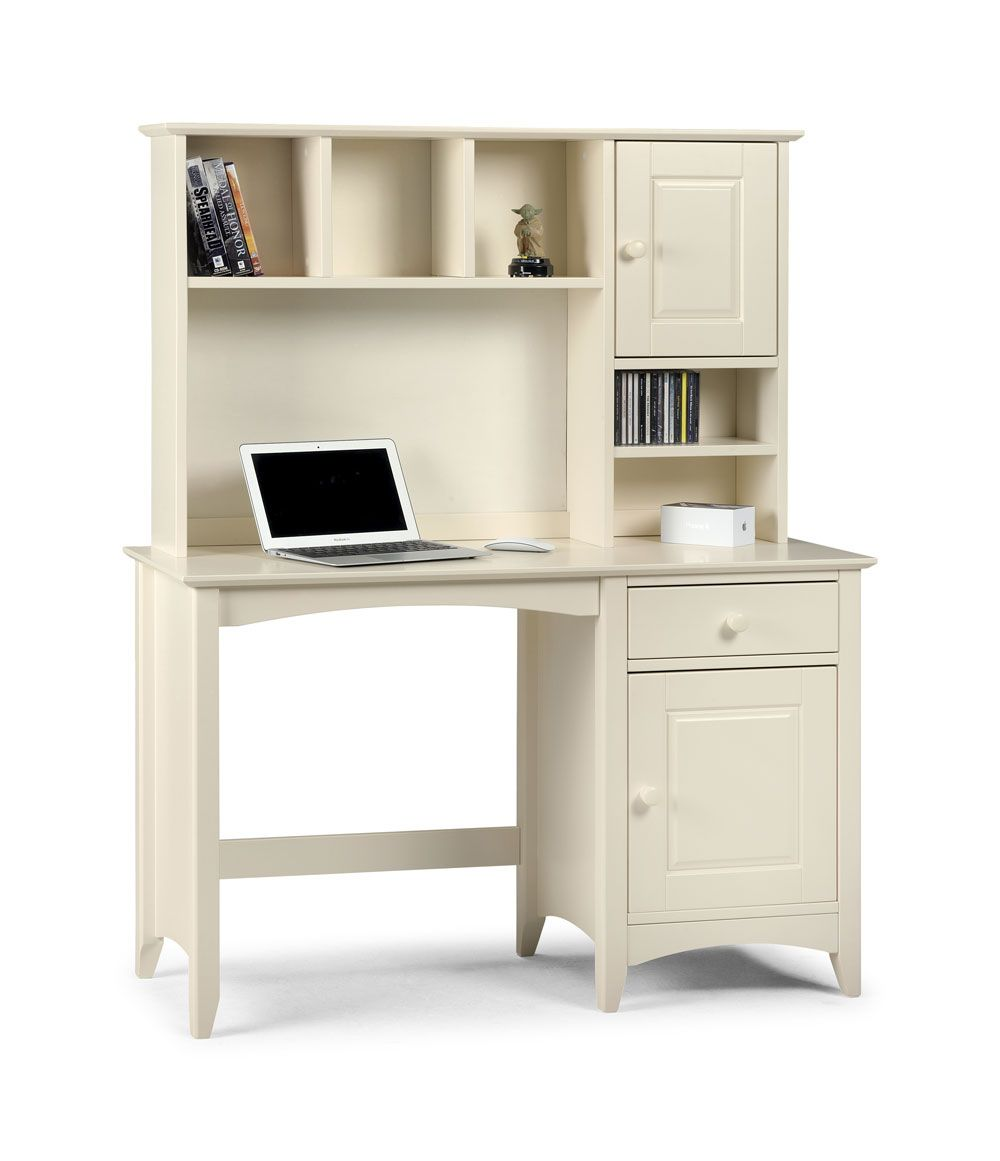 Cammy Desk With Hutch Top Cammy White Shaker Bedroom