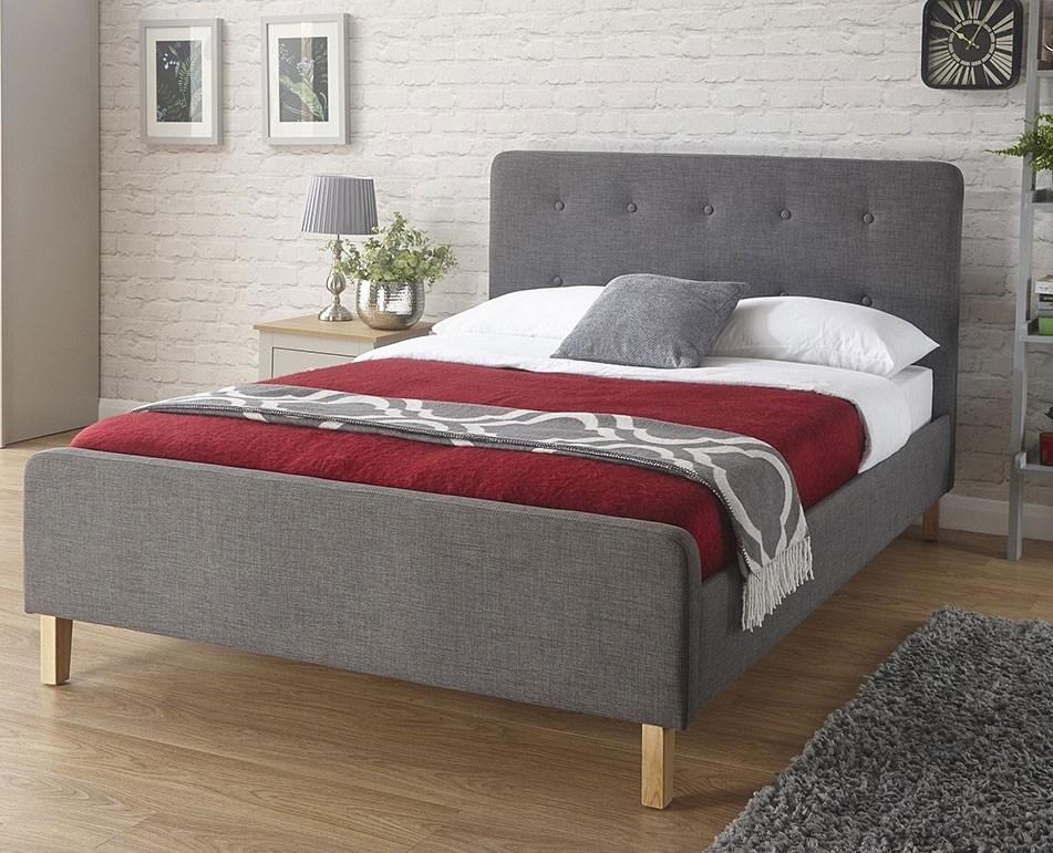 Ashville Dark Grey Double Bed Frame Double Bed Frames