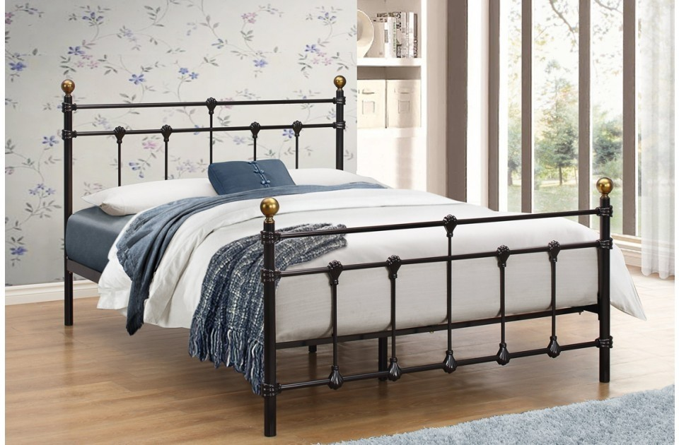 Atlas Black Double Bed Frame