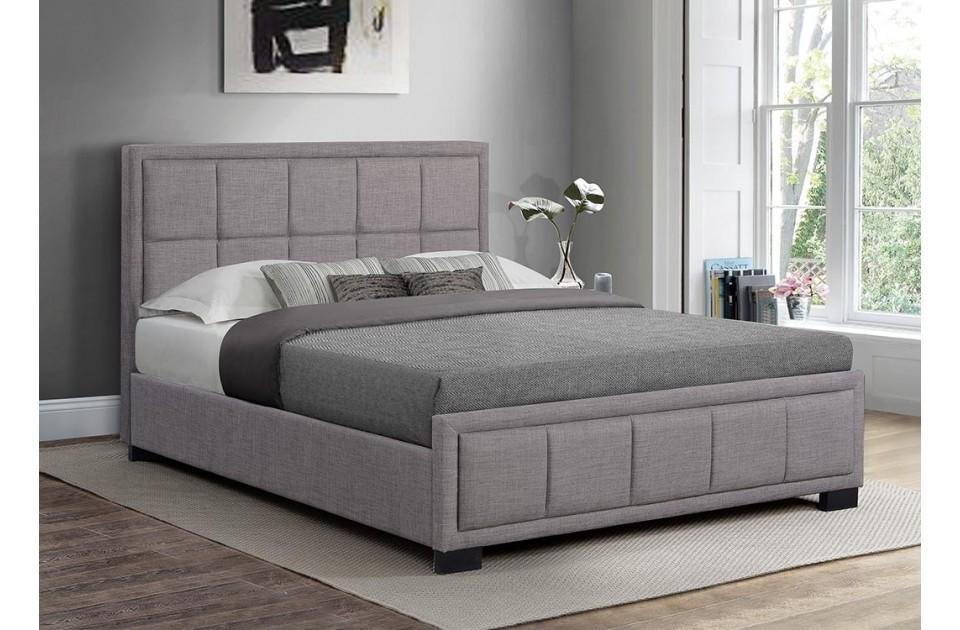 3 Quarter Bed Mattress Topper : Hann grey fabric three quarter bed frame