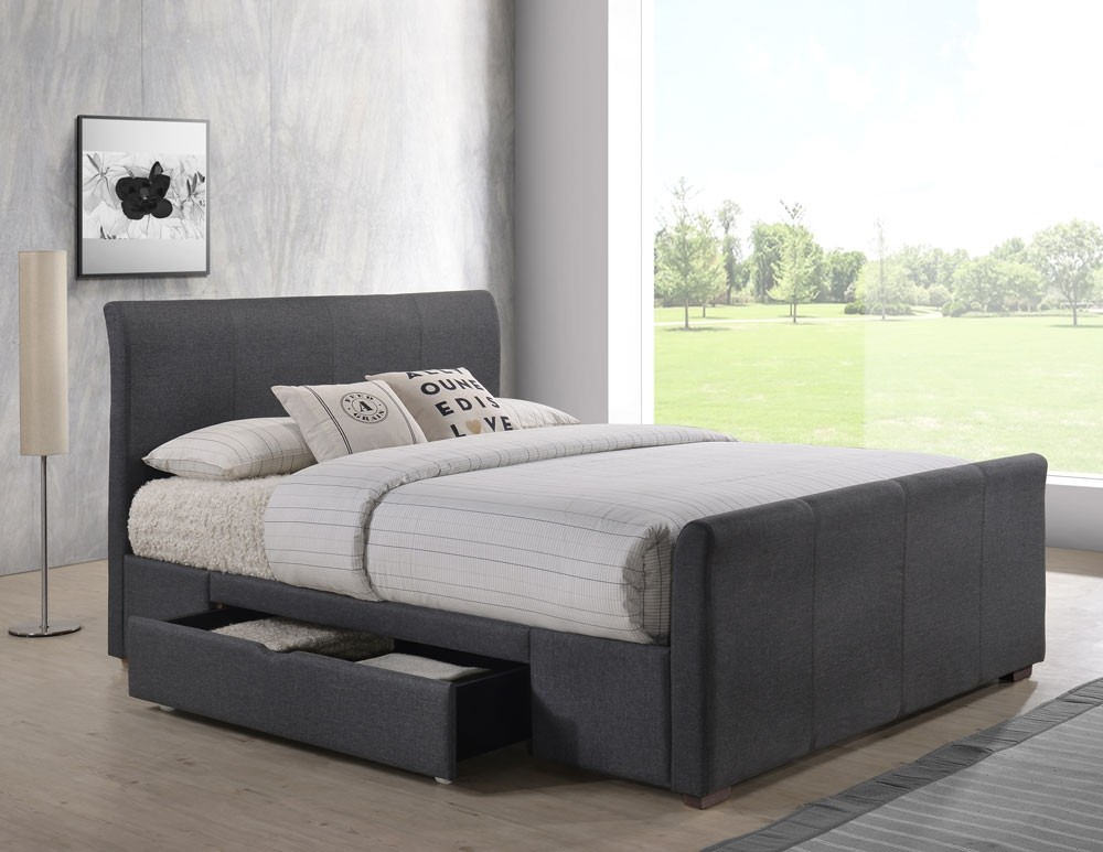 25210dc91869 More Views. Rollover Rollover image to zoom, click to enlarge. Horsham Grey  Double Bed Frame With 2 Drawers