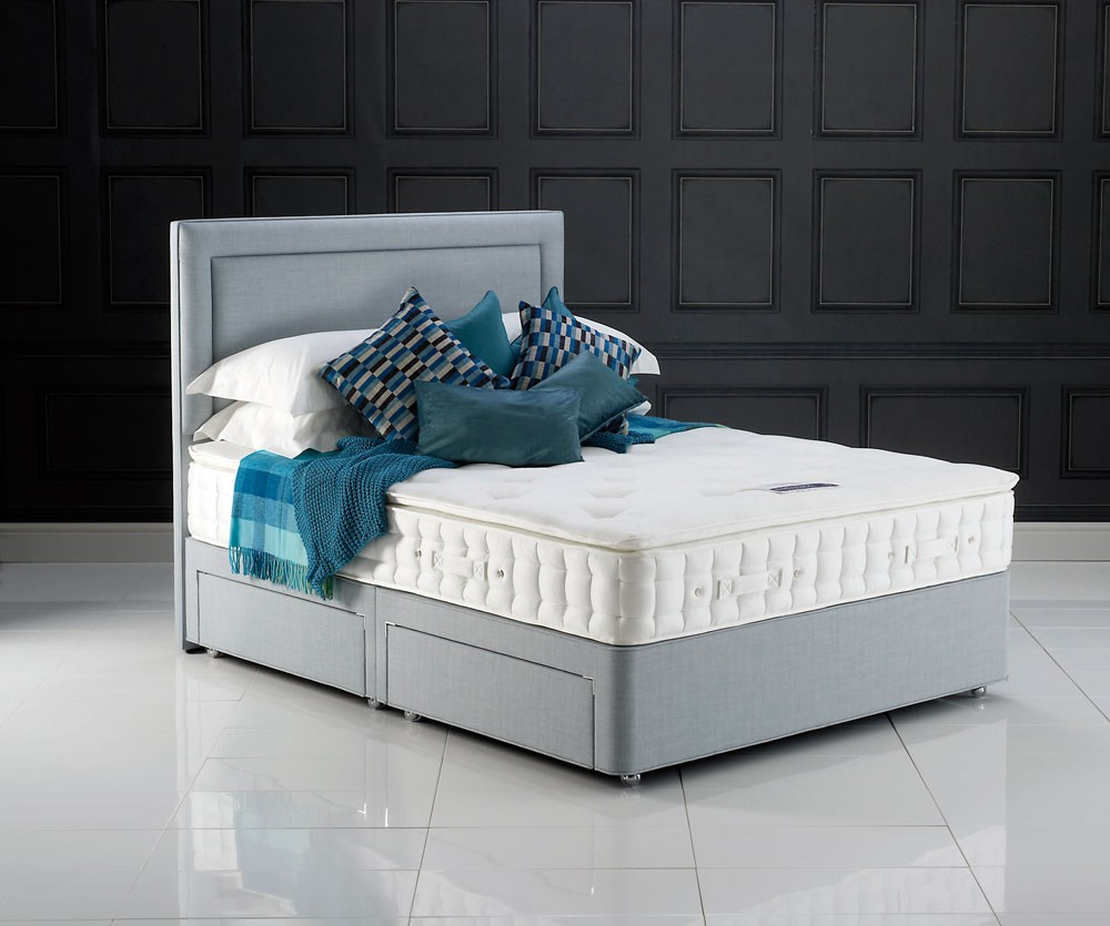 Hypnos pearl pillow top three quarter 3 4 divan bed Three quarter divan bed
