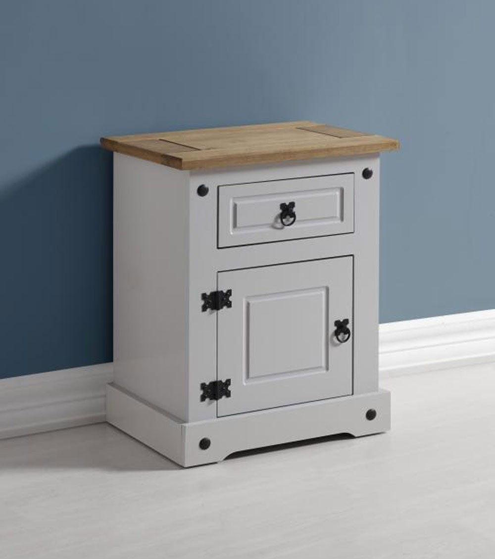 Corona Grey Bedside Locker