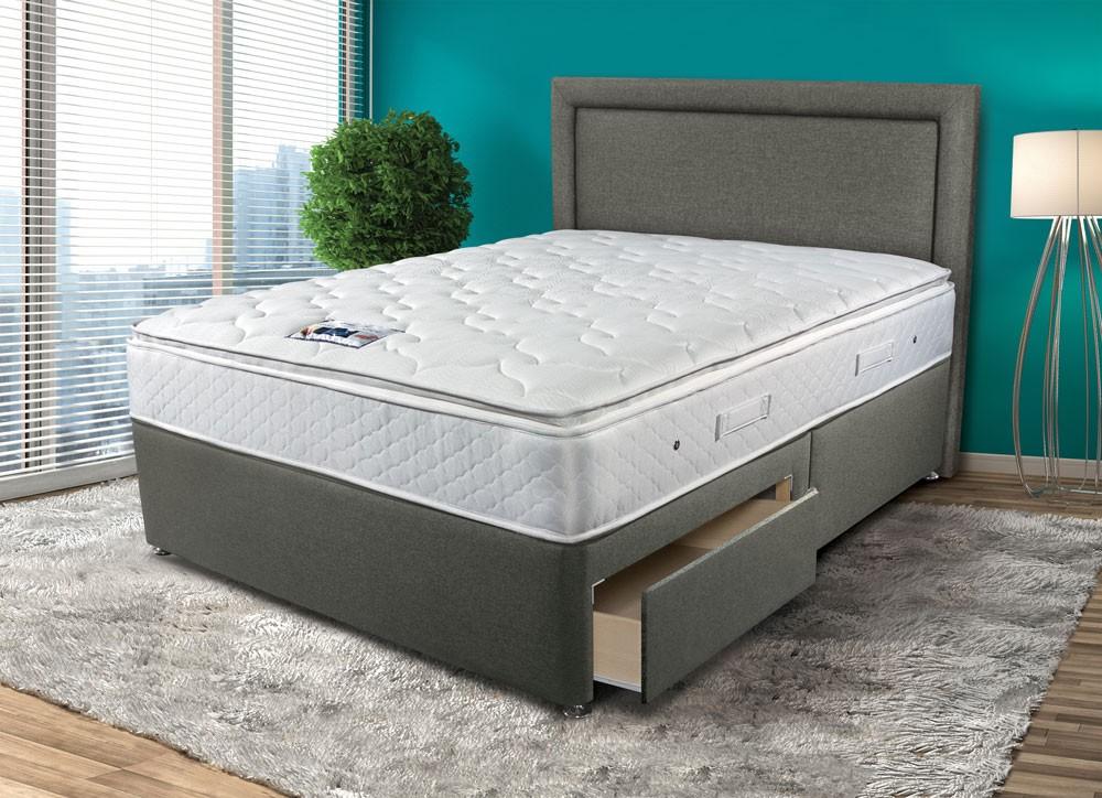 Sleepeezee Memory Comfort 1000 Single Divan Bed