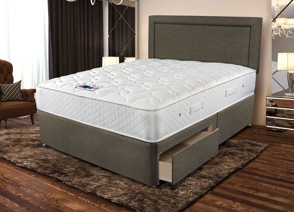 Sleepeezee memory comfort 800 three quarter 3 4 divan bed Three quarter divan bed